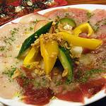 ライノスキッチン - カルパッチョ三種盛り¥980