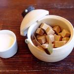 カフェ タブノキ - カワイイ角砂糖入れ