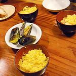 ライノスキッチン - パエリア、3個しかないムール貝はジャンケン
