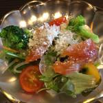 37607589 - 秋桜御膳1900円の地野菜のサラダ