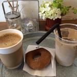 37607632 - 雑穀コーヒーセットは500円、単品の雑穀コーヒーオレは400円