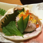 ゆふいん山水館 - 蟹甲羅寿司いくらのせ