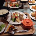 ビストロ309 - チキンと彩り野菜のチーズフォンデュ