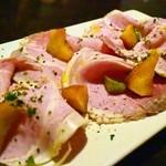 ファッティーズ - 2015/May ジャンボンブラン(自家製豚もものハム)、焼きリンゴのせ