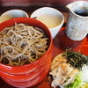 東風 - 料理写真:割子そば(薬味・蕎麦湯・甘味)