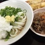 たも屋 - 肉ぶっかけと天ぷら