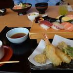 魚河岸たちばな - 天麩羅にぎり寿司定食