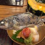 くれない - 山女魚の塩焼き。