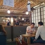 京都酒場赤まる - 店内(地元では有名な御札火廼要慎有り