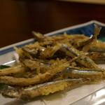 麺豪 のざき - きびなご天プラ500円
