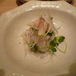 鉄板焼き あおやま - 真鯛のカルパッチョ
