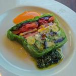 37623172 - スモークサーモンと野菜の自家製テリーヌ