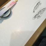紀八寿司 - テーブルクロス