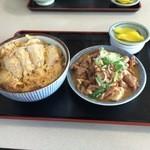 舘の丸食堂 - かつ丼+単品ホルモン