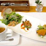 ラ・テラス・ダニエル - ランチメニュー 「Dejuner (デジュネ)」 前菜・スープ (2009年10月)
