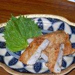 播州地鶏焼鳥 元気 - 結果はピンポン~。やっぱりめちゃくちゃ美味しかったです。出来たてですよ。ほくほくしながら食べました。