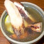 播州地鶏焼鳥 元気 - 松茸とダシを入れて、こんな感じで頂きました。美味しかった。