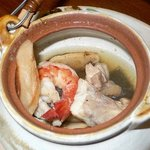 播州地鶏焼鳥 元気 - そして松茸を食べつくしたらエビとか魚が出てきました。もちろん、これも全て美味しく頂きました。
