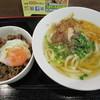 地蔵庵 - 料理写真:饂飩と牛丼セット 500円