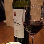 37635909 - KYOTO KIMURAYAのワインはタクンレゼルバ カベルネソービニオン(15.01)
