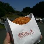 山都ころっけ本舗 - 料理写真:肥後山都の馬肉大葉めんち(250円)