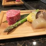 神戸牛高倉 - 焼く前の食材