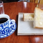 Natural cafe ROUTE99 - 料理写真:バタートーストとグァテマラ