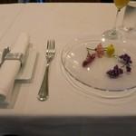 ラ・リューン - 可愛らしいテーブルセッティング