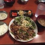 37640473 - 豚ハラミ炙り焼き定食
