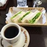 琥珀亭 - サンドセット(朝のメニュー)