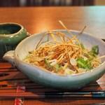 又達 - 料理写真:梅だれぶっかけ蕎麦
