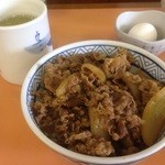 三河家 - 牛丼・並盛(500円)