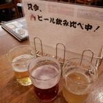 アサヒビアケラー - ドイツ・ベルギー ビール飲み比べ中