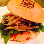 GRILL&BAR SOULWOOD - 限定!滋賀味噌がミソのバーガー