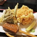 蕎麦彩膳 隆仙坊 - 天かき揚げせいろ(1750円)