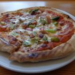 國屋 - ピザランチ、ベーコンとアスパラガスのピザ♪