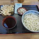 福中 - 天ぷらうどん(冷590円)