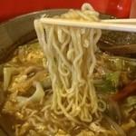喜久龍 - 中細縮れ麺
