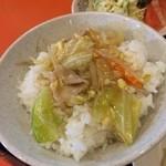 喜久龍 - あんかけ野菜丼にしてみた