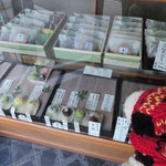 塩伊 - 料理写真:和菓子の見本が飾られているので欲しいものを注文すると お店の方がお店の奥に行って箱詰めして持ってきてくれました。