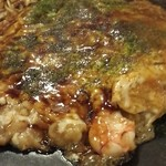 ねこバス亭 - 料理写真:えびチーズもだん焼