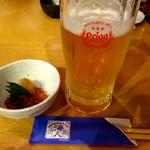 海人 - オリオンの生ビール