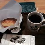 バッドアスコーヒー - コーヒーとシナモンマラサダ