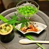 Akibananguuan - 料理写真:盛り付け美しく、先附。
