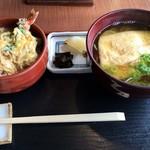そば 寿し 花しん - 2015/5 ミニ天とじ丼&きつねそばのセット