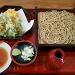 蕎麦六 - やさい天麩羅セイロそば¥1040(H27.4.28撮影)