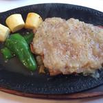 グリル千 - シャリアピン・ステーキ ポークA 1,500円(サラダ・ライス・コーヒー付) 肉は200g