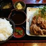 とんかつ酒房 加奈房 - ひれかつ&鶏唐ランチ 900円