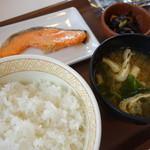 すき家 - 鮭朝食(¥390税込み)
