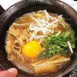徳島中華そば 徳福 - ミニ・肉玉そば、600円。